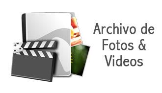 Archivos, fotos y videos